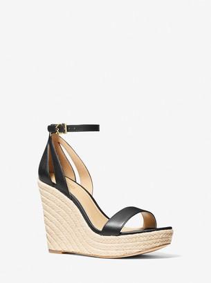 MICHAEL Michael Kors Kimberly Leather Wedge Sandal