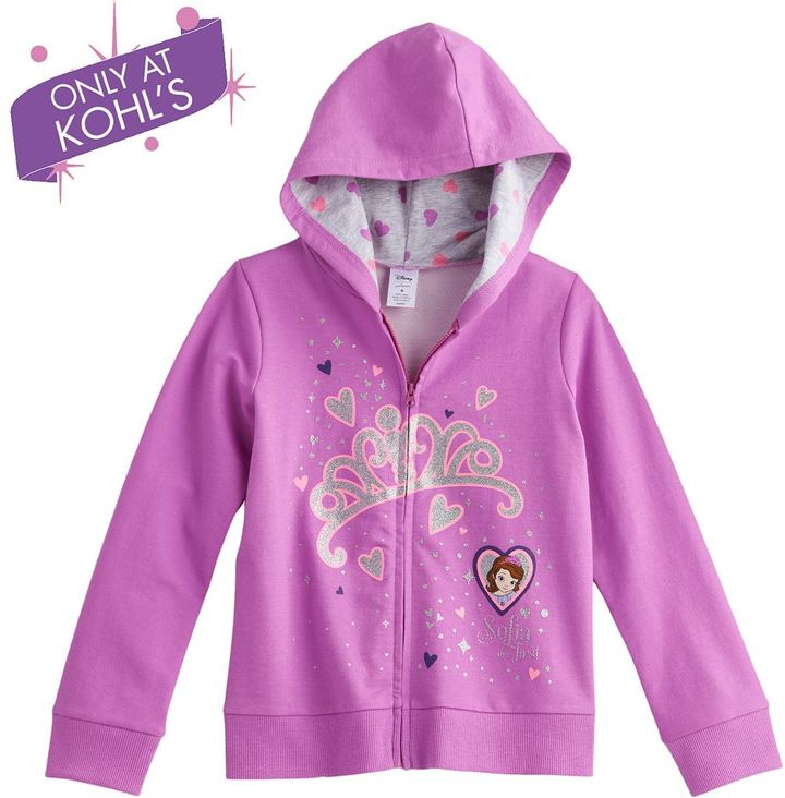 Disney sofia the first tiara hoodie by jumping beans ® - girls 4-7