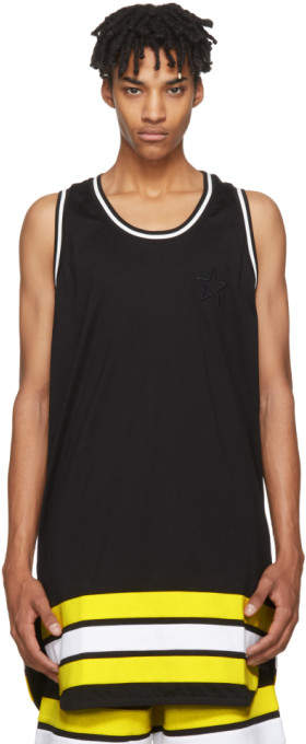 Givenchy Black Oversized Striped Tank Top