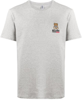 Moschino bear-motif logo-embroidered T-shirt