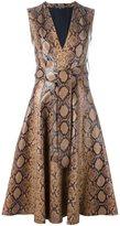 Alexander McQueen python print dress