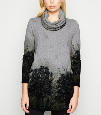 New Look Leaf Print Tunic Top