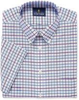 STAFFORD Stafford Travel Wrinkle-Free Oxford Short-Sleeve Dress Shirt