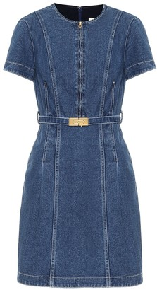 Tory Burch Nadia stretch-denim minidress