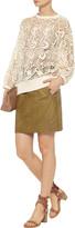 Isabel Marant Acca textured-leather mini skirt