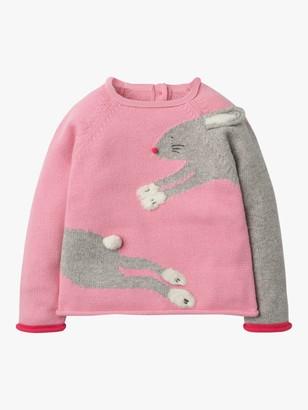 Boden Girls' Fun Bunny Jumper, Formica Pink