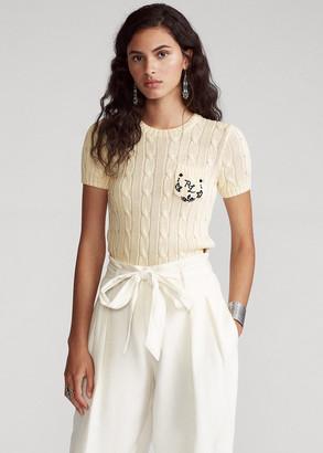 Ralph Lauren Cable Short-Sleeve Sweater
