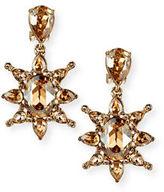 Oscar de la Renta Tropical Bloom Crystal Drop Earrings