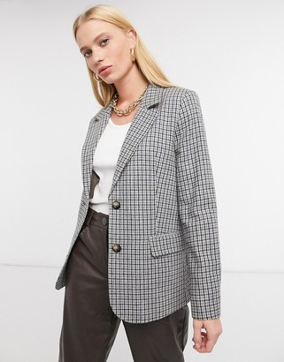 And other stories & mini houndstooth blazer in grey