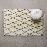 Graham and Green Black And Ivory Small Berber Rug