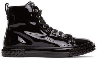 Giuseppe Zanotti Black Patent Blabber Sneakers