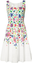 Oscar de la Renta sleeveless scoop neck dress - women - Nylon/Polyester - 4