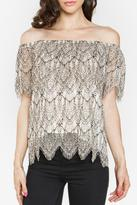 Sugar Lips Lace Off Shoulder Top