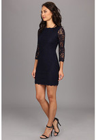 Adrianna Papell Long Sleeved Lace Dress