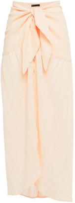 Vix Paula Hermanny Tie-front Cotton-blend Gauze Midi Skirt