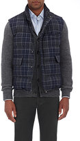 Isaia Men's Plaid Quilted Vest-GREY
