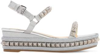 Christian Louboutin 60mm Pira Ryad Leather Espadrilles