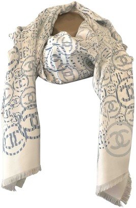 Chanel White Silk Scarves