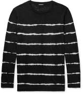 Balmain - Slim-fit Tie-dyed Striped Linen T-shirt