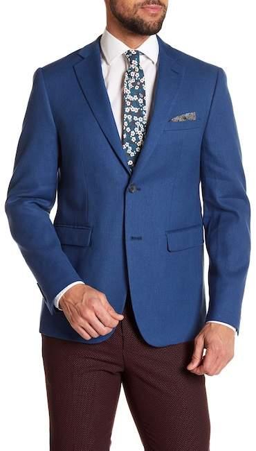 Original Penguin Notch Collar Long Sleeve Double Button Skinny Sportcoat