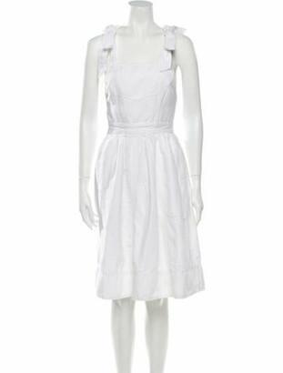 Ulla Johnson Square Neckline Knee-Length Dress White