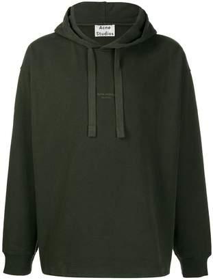 Acne Studios inverted logo print hoodie