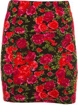 Bright Floral Bodycon Skirt