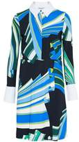 Emilio Pucci Crepe-Trimmed Printed Twill Shirt Dress