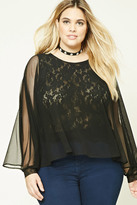 Forever 21 FOREVER 21+ Plus Size Mesh Knit Top