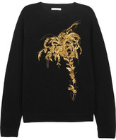 Chloé Embellished Wool And Cashmere Blend Sweater - Black