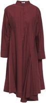 Brunello Cucinelli Asymmetric Crinkled Cotton-blend Shirt Dress