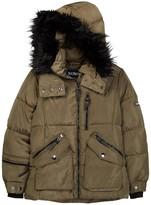 XOXO Removable Faux Fur Trim Hood Jacket (Little Girls)