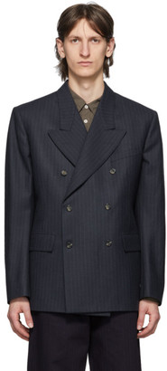 Maison Margiela Navy Wool Double-Breasted Blazer