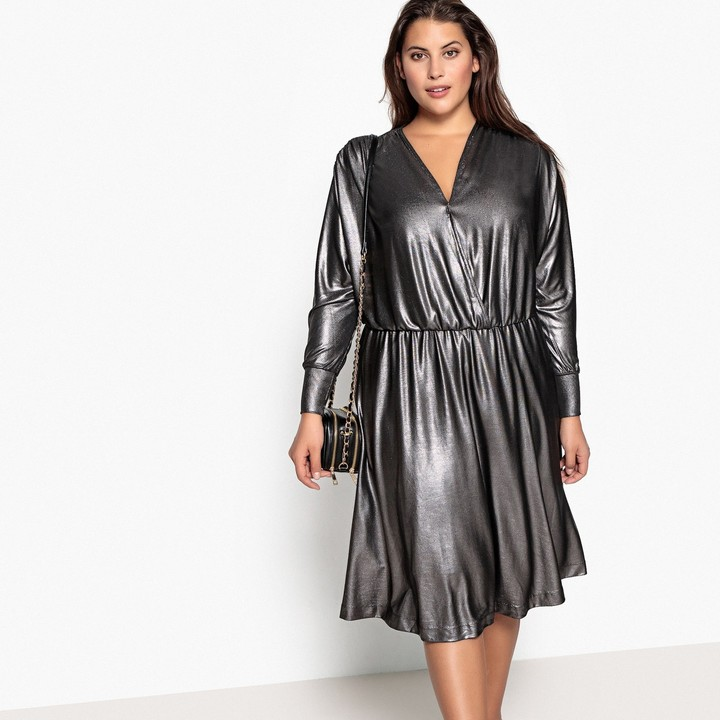 73fffa1076 Plus Size Metallic Dresses - ShopStyle UK