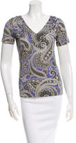 Etro Short Sleeve Paisley Top