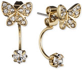 lonna & lilly Gold-Tone Crystal Butterfly Front-Back Earrings