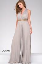 Jovani Open Back Chiffon Jumpsuit 458601