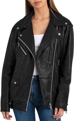 Bagatelle Leather Oversized Biker Jacket