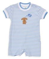 Florence Eiseman Baby's Puppy Applique Striped Romper