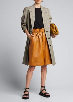 Miu Miu Knee-Length Leather Carpenter Shorts