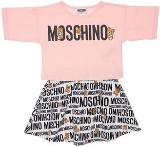 Moschino Jersey Long Sleeve T-shirt & Sweat Skirt