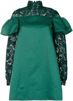 No.21 lace trim mini dress with flounces