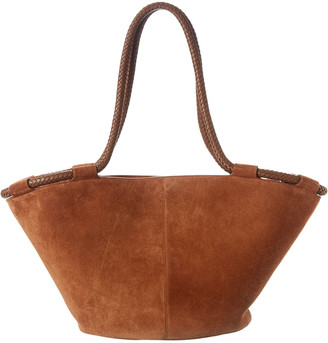 The Row Market 20 Suede & Leather Tote