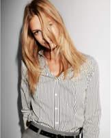 Express original long sleeve stripe ultimate essential shirt