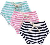 Kids Tales 3-Pack Summer Baby Boys Girls Cotton Striped Shorts Bloomers