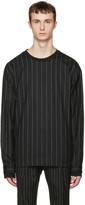 Juun.J Black Pinstripe Pullover
