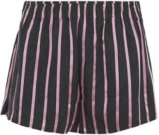 Alexander Wang Striped Satin And Twill Shorts
