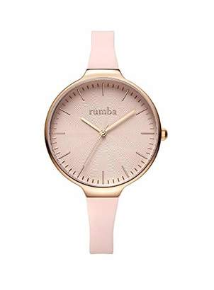 RumbaTime Women's Orchard Wave Stainless Steel Japanese-Quartz Silicone Strap