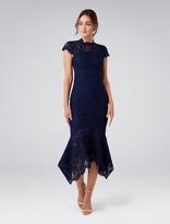Frankie Lace Maxi Dress Navy 6