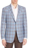Hickey Freeman Plaid Classic-Fit Sportcoat
